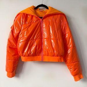 Stella McCartney x Adidas Neon Orange Puffer